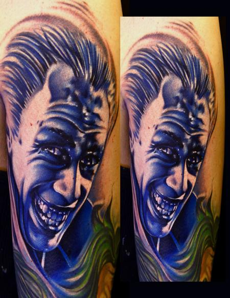 Mike Demasi - The Man Who Laughs Color Portrait Tattoo